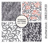 vector set of seamless patterns....   Shutterstock .eps vector #288213920