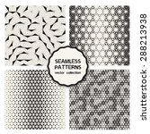 vector set of seamless patterns.... | Shutterstock .eps vector #288213938