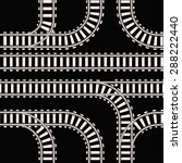 seamless background of railway... | Shutterstock . vector #288222440