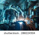 welding robots movement in a... | Shutterstock . vector #288224504