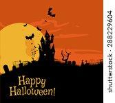 happy halloween  vector... | Shutterstock .eps vector #288229604
