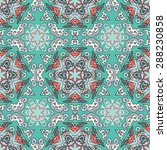 seamless pattern ethnic style....   Shutterstock .eps vector #288230858