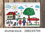 happy family concept. colorful... | Shutterstock .eps vector #288234704