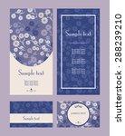 vector blue and violet  line... | Shutterstock .eps vector #288239210