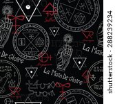 seamless pattern with mystic... | Shutterstock .eps vector #288239234