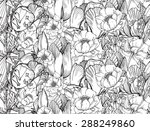 vector seamless pattern with... | Shutterstock .eps vector #288249860
