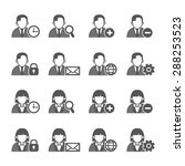 people icons set. vector... | Shutterstock .eps vector #288253523