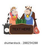 cow and ox farm label | Shutterstock .eps vector #288254288