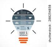 vector light bulb infographic.... | Shutterstock .eps vector #288254858