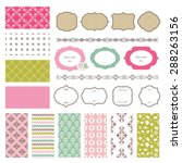 frames ans seamless patterns... | Shutterstock .eps vector #288263156