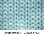 Blue Knitted Textured...