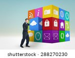 businessman presenting with his ... | Shutterstock . vector #288270230