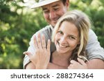 happy loving couple on... | Shutterstock . vector #288274364