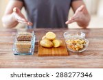 healthy eating  diet and people ... | Shutterstock . vector #288277346