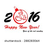 happy new year 2016. year of... | Shutterstock .eps vector #288283064
