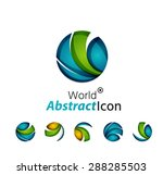 abstract geometric business... | Shutterstock .eps vector #288285503