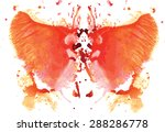 orange  watercolor symmetrical... | Shutterstock .eps vector #288286778