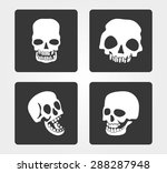 simple web icons  skull | Shutterstock .eps vector #288287948