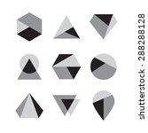 set of icons  geometric logo | Shutterstock .eps vector #288288128