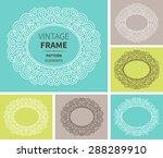 vector set of vintage cards.... | Shutterstock .eps vector #288289910