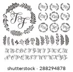 vector illustration of vintage... | Shutterstock .eps vector #288294878