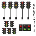 traffic light vector... | Shutterstock .eps vector #288298988