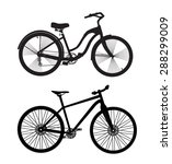 bicycle silhouette. vector... | Shutterstock .eps vector #288299009
