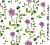 floral watercolor print | Shutterstock . vector #288301328