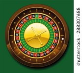 roulette wheel with french... | Shutterstock .eps vector #288307688