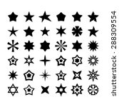 star icon set | Shutterstock .eps vector #288309554