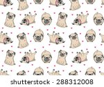 vector illustration. seamless... | Shutterstock .eps vector #288312008