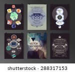 set of poster  flyer  brochure... | Shutterstock .eps vector #288317153