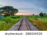 railroad at sunset | Shutterstock . vector #288334520