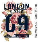 soho london roses   vector... | Shutterstock .eps vector #288341048