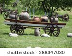 Carriage With Ceramic Pots