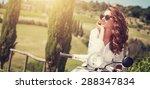 portrait of summer girl on... | Shutterstock . vector #288347834