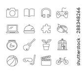 hobbies icons | Shutterstock .eps vector #288348266