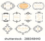 vector  calligraphic frames and ... | Shutterstock .eps vector #288348440