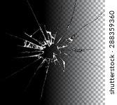 realistic transparent broken... | Shutterstock . vector #288359360