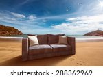 couch at the beach | Shutterstock . vector #288362969
