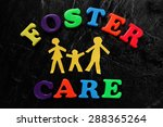 paper cutout family with foster ... | Shutterstock . vector #288365264