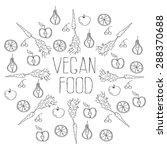 vegan food background   Shutterstock .eps vector #288370688