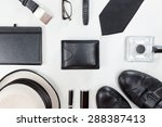 men accessories. black elegant... | Shutterstock . vector #288387413