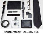 men accessories. black elegant...   Shutterstock . vector #288387416
