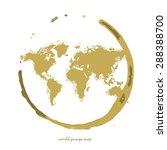 world grunge map | Shutterstock .eps vector #288388700