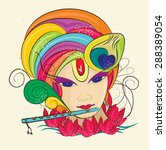 lord krishna 7 | Shutterstock .eps vector #288389054