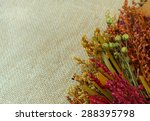 Copy Space On Blurred Burlap...