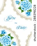 vintage invitation template...   Shutterstock .eps vector #288398228