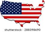 american flag map 3d | Shutterstock .eps vector #288398690