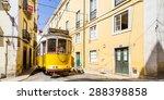tram  eletrico  in alfama ... | Shutterstock . vector #288398858